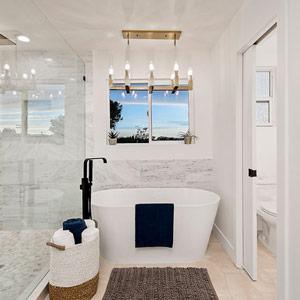 Method portfolio Mary Lane night 23 bathroom bathtub by the window